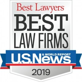 US News and World Report Best Law Firms Badge 2019